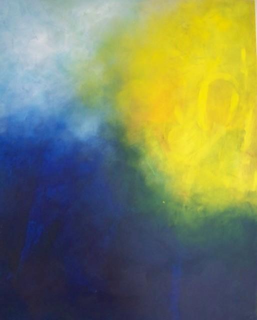 Farbkomposition Blau/Gelb