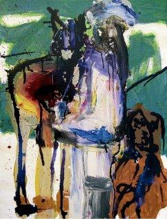 Beduine mit Pferd und Hund, Peter Rademacher