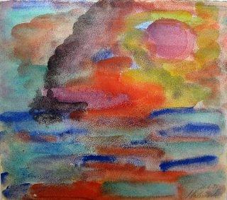 Dampfer auf See, Peter Rademacher