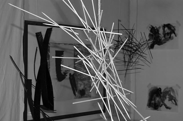 Anita Voigt - Zeichnung im Raum I und II