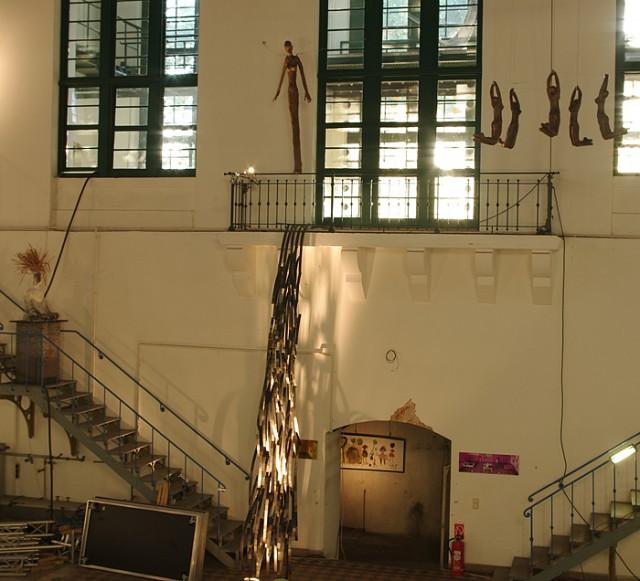 Gesamtansicht  Installation Der Sprung im alten Wasserwerk Saloppe Dresden