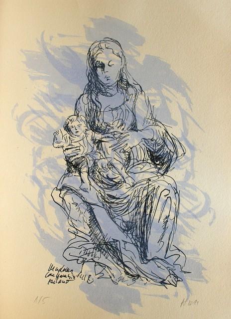 Madonna mit Kind im Castello Milano