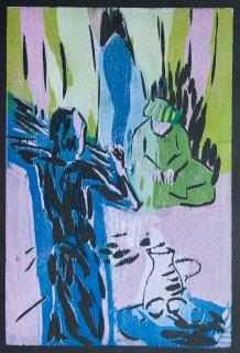 Das Feuer auf dem Berggipfel / Illustration 1 zum äthiopischen Märchen, Anita Voigt