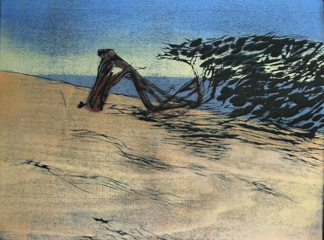 Wacholder  1 / El Hierro / Holzschnitt