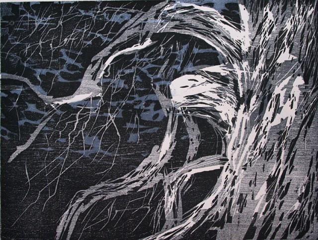 Anita Voigt - Wacholder 3 / El Hierro / Holzschnitt