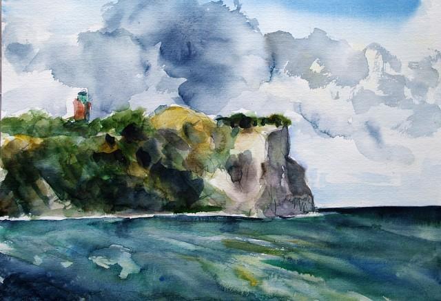 Anita Voigt: Blick von Vitt auf Kap Arkona