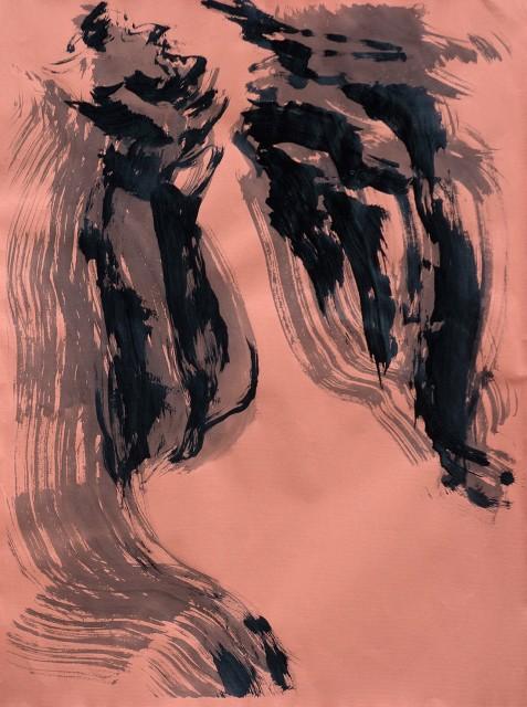 Triptychon Landschaft  / Algrafie, Handabzug