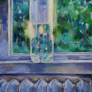 Flasche am Fenster, Anita Voigt