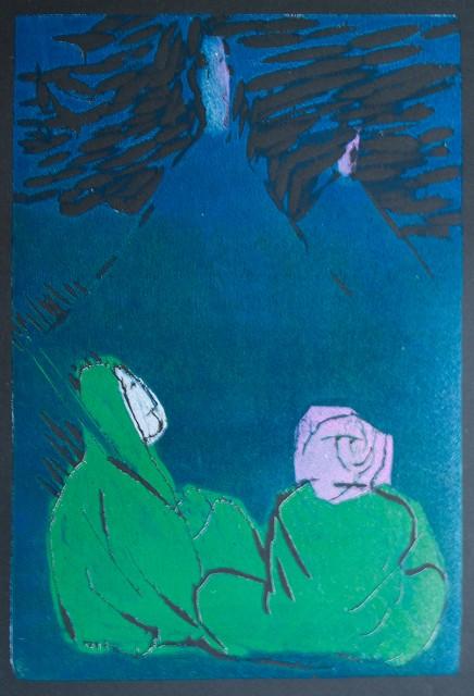 Das Feuer auf dem Berggipfel / Illustration 3 zum äthiopischen Märchen