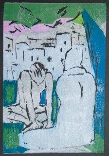 Das Feuer auf dem Berggipfel / Illustration 6 zum äthiopixschen Märchen, Anita Voigt