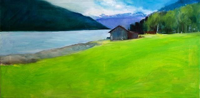 Anita Voigt: Am Fjord