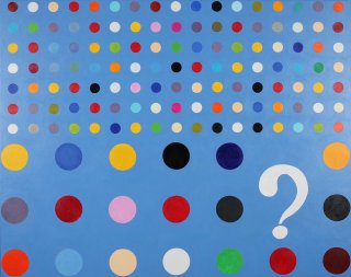 QUESTION MARK BLUE, Albert Weber