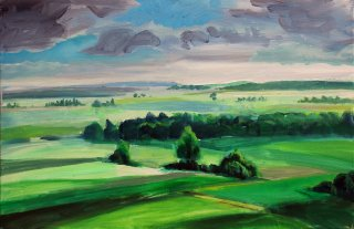 Landschaft Burg Wahrberg I, Dieter Hess