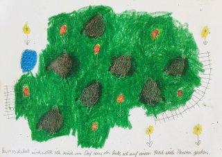 Hennen auf einer grünen Wiese, Friedrich Fröhlich