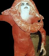 Skulpturen-Kostüme  Mund- Performance Ulisses, Alexandra Holownia
