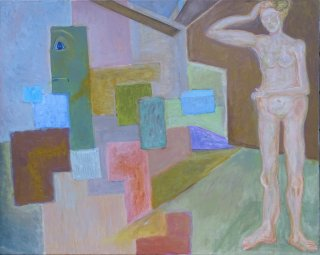 Interieur mit Figur, Wolfgang Bittkau