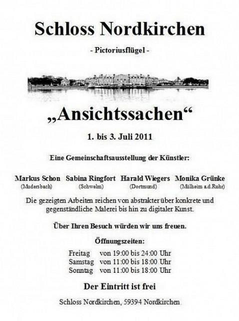 Ausstellung «Ansichtssachen»