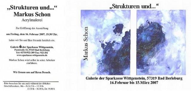 Ausstellung «Strukturen und ....»