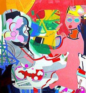 Die rosarote Frau besucht den abstrakten Künstler, Barron Holland