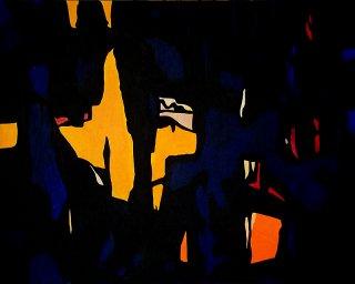 Dark Temptation 1 (Hommage  Clyfford Still), Michael Schmidt