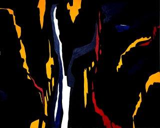 Dark Temptation 2 (Hommage  Clyfford Still), Michael Schmidt